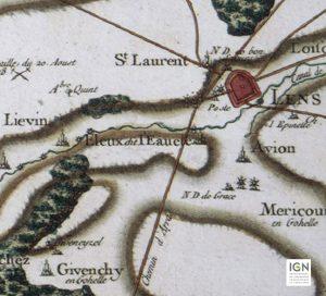 Carte Cassini du XVIII