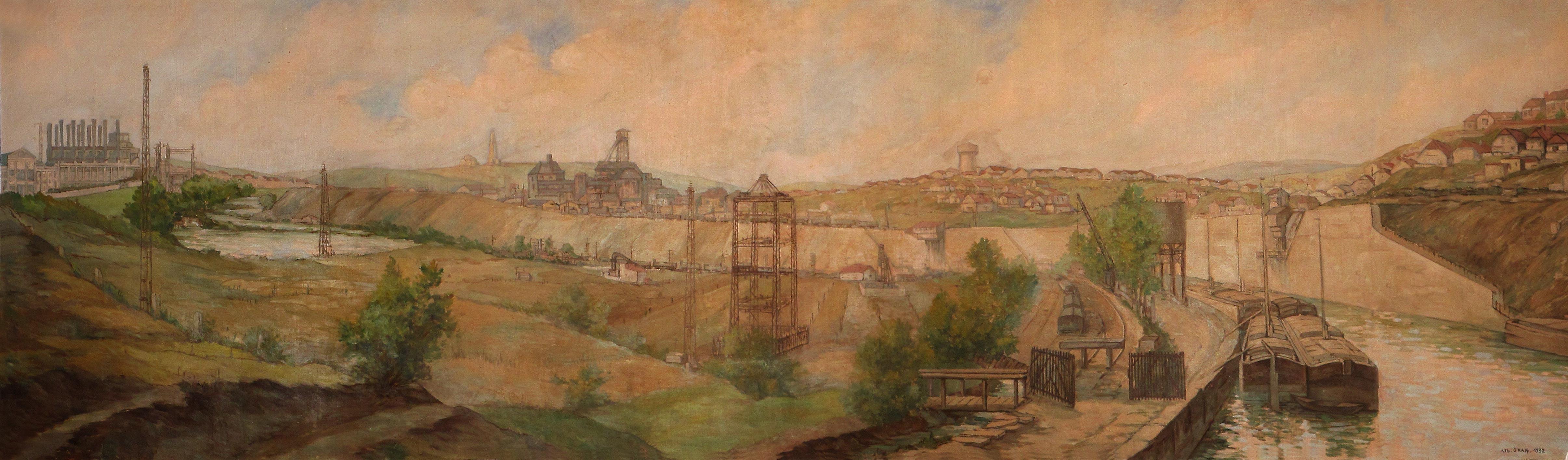 Fresque de 1932 signée Albert Graf