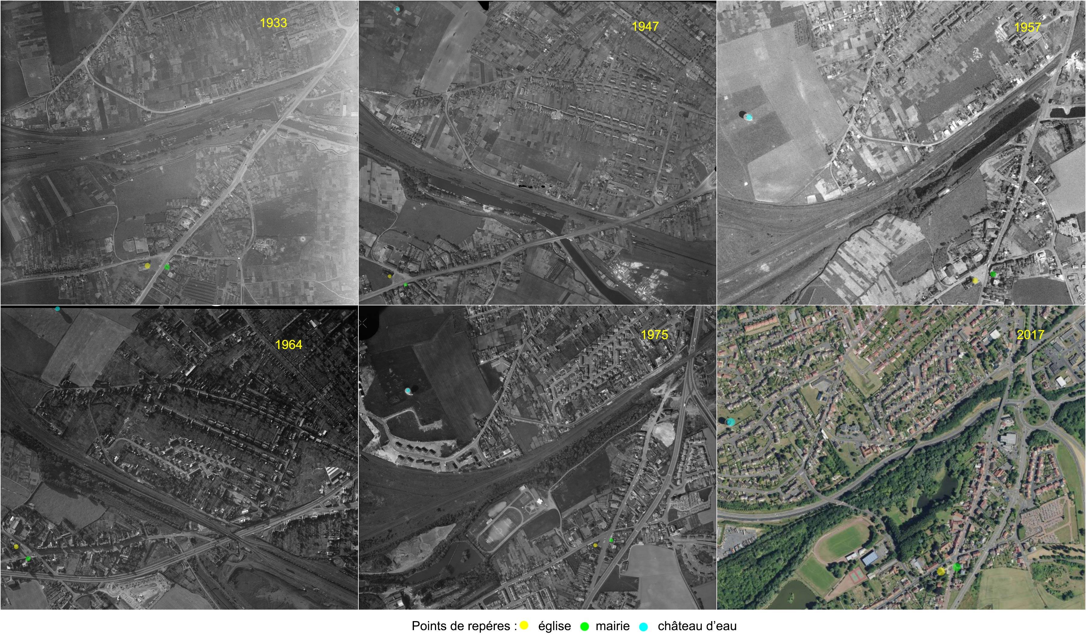 L'évolution d'Eleu-dit-leauwette entre 1933 et 2017