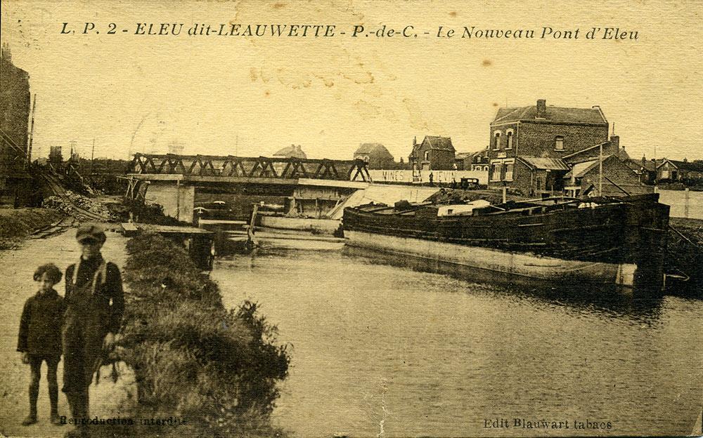 Le nouveau pont d'Eleu aux alentours de 1930